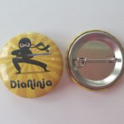 "Diabetes Anstecker-Button ""DiaNinja"""
