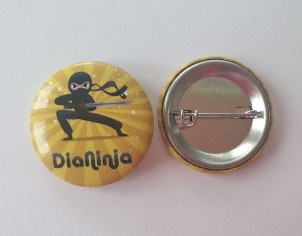 "Diabetes Anstecker-Button ""DiaNinja"""