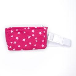 Insulinpumpentasche mit flexiblem Bauchgurt Pink Sternchen günstig kaufen bei www.zuckerschmuck.com
