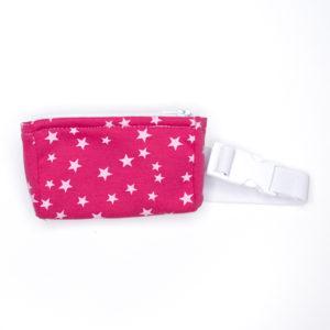Bauchtasche Pink Sternchen mit flexiblem Gurt