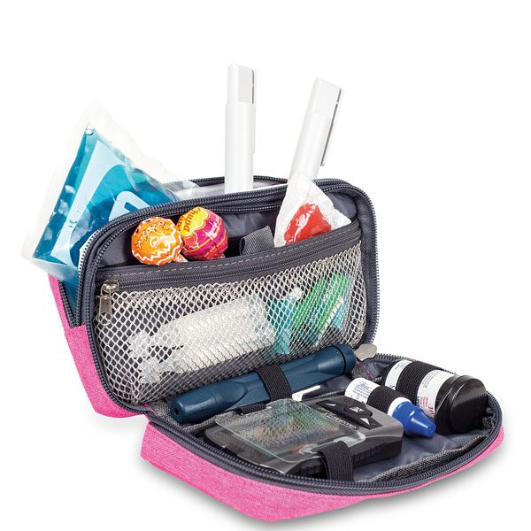 ELITE BAG Diabetic's Tasche Diabetestasche pink bitone