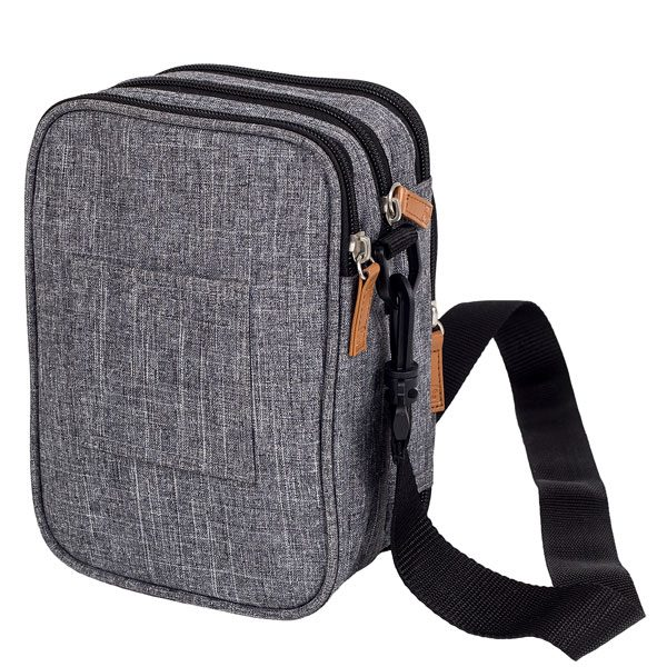 ELITE BAG Fits Tasche Diabetestasche grau bitone