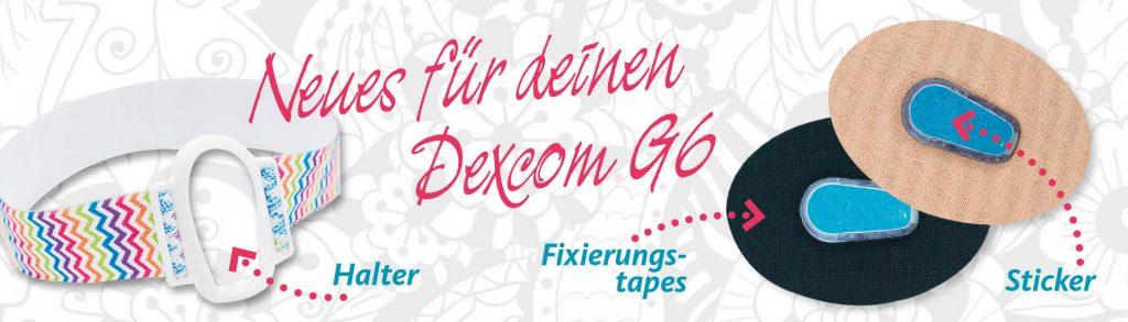 Zubehör für deinen Dexcom G6: Fixierungstapes, Sensorhalter und Sticker