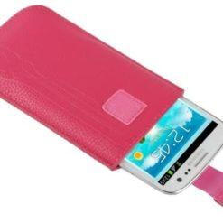 Stylishe und edle Schutzhülle in pinker Lederoptik für dein Omnipod DASH Lesegerät mit Gürtelschlaufe günstig kaufen bei www.zuckerschmuck.com.
