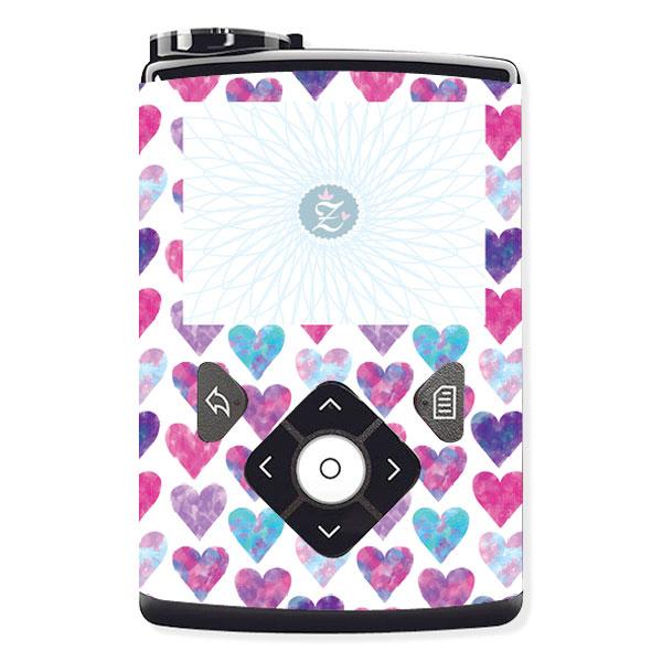 Passgenauer Sticker Hearts Herzen für die Insulinpumpen Medtronic Minimed 630G,640G,670G von Zuckerschmuck