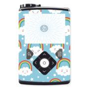 Passgenauer Sticker Rainbow Regenbogen Wolke für die Insulinpumpen Medtronic Minimed 630G,640G,670G von Zuckerschmuck