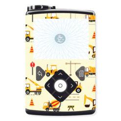 Passgenauer Sticker Baustelle Fahrzeuge Bagger Autos für die Insulinpumpen Medtronic Minimed 630G,640G,670G von Zuckerschmuck