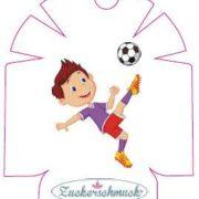 """Omnipod Sticker """"Fußballer"""" von Zuckerschmuck"""
