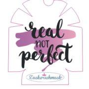 """Omnipod Sticker """"Real not perfect"""" von Zuckerschmuck"""