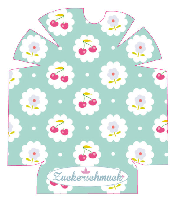 """Omnipod Sticker """"Cherries"""" von Zuckerschmuck Omnipod und Omnipod Dash Pod Design Sticker von"""