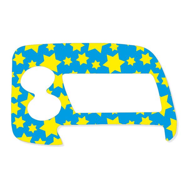 Sticker Sternchen Für Accu Chek Spirit Combo