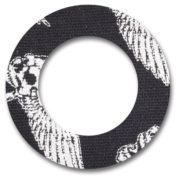 Fixtape Tape Freestyle Libre rund Skull Schwarz/Weiß