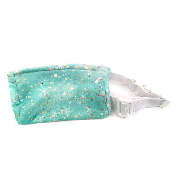 Insulinpumpentasche mit flexiblem Bauchgurt Türkis Glitzer günstig kaufen bei www.zuckerschmuck.com