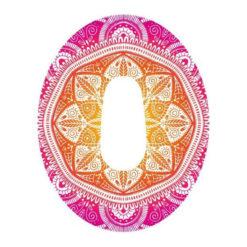 Dexcom G6 Design Motiv Fixierungstapes- Pflaster Mandala pink günstig kaufen bei www.zuckerschmuck.com