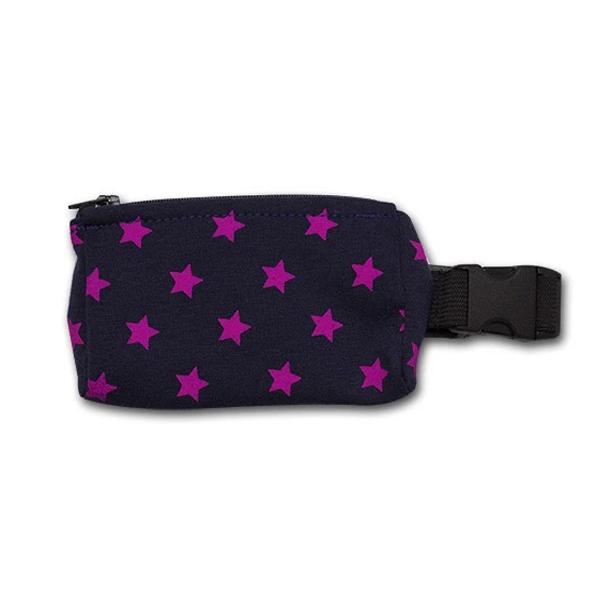 Insulinpumpentasche mit flexiblem Bauchgurt Sternchen lila günstig kaufen bei www.zuckerschmuck.com