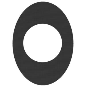 Oval Schwarz (H2O - Extra wasserfest)