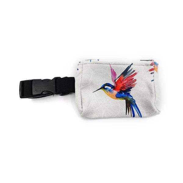 Insulinpumpentasche mit flexiblem Bauchgurt Vogel Kolibri günstig kaufen bei www.zuckerschmuck.com