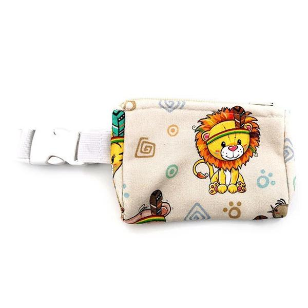 Insulinpumpentasche mit flexiblem Bauchgurt Indianer Löwe günstig kaufen bei www.zuckerschmuck.com