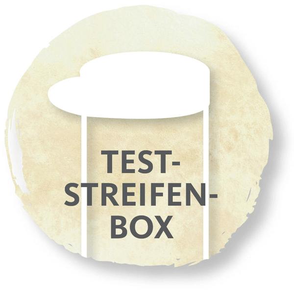 Teststreifen, Teststreifenbox, Teststripbox, Stripbox, Freestyle, Sticker, Patches